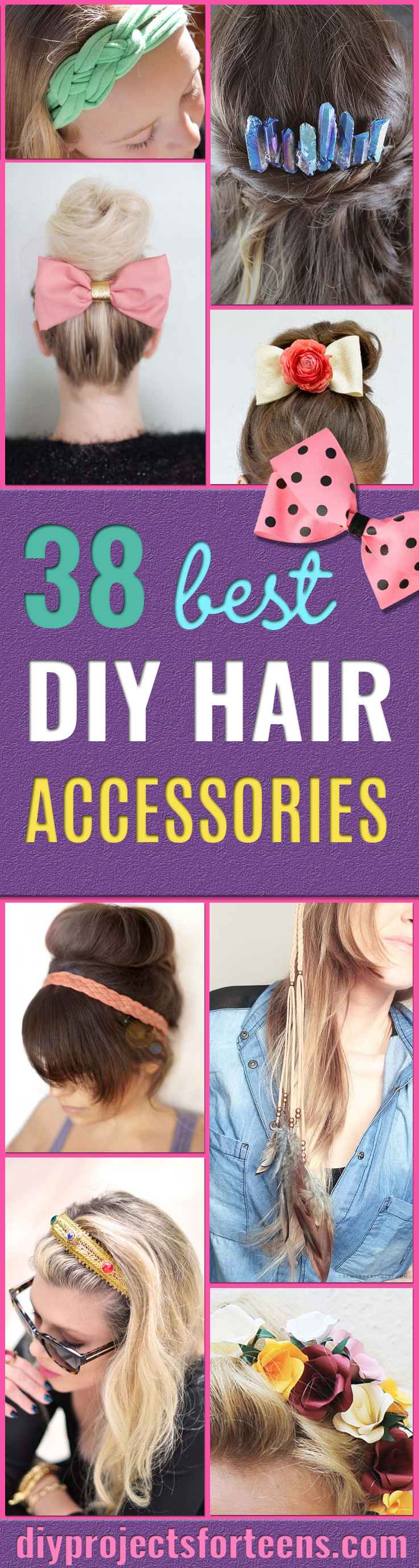 38 Creative DIY Hair Accessories - Create Pretty Hairstyles for Women, Teens and Girls with These Easy Tutorials - Vintage and Boho Looks for Prom and Wedding - Step by Step Instructions for Cool Headbands, Barettes, Pony Tail Holders, Hair Clips, Bobby Pins and Bows