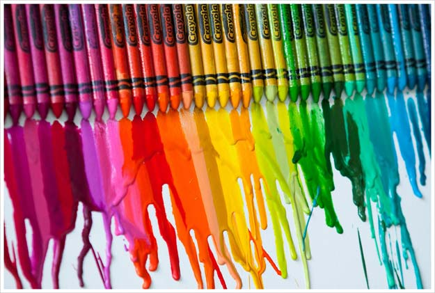 Best DIY Rainbow Crafts Ideas - Melted Crayon Art - Fun DIY Projects With Rainbows Make Cool Room and Wall Decor, Party and Gift Ideas, Clothes, Jewelry and Hair Accessories - Awesome Ideas and Step by Step Tutorials for Teens and Adults, Girls and Tweens http://diyprojectsforteens.com/diy-projects-with-rainbows