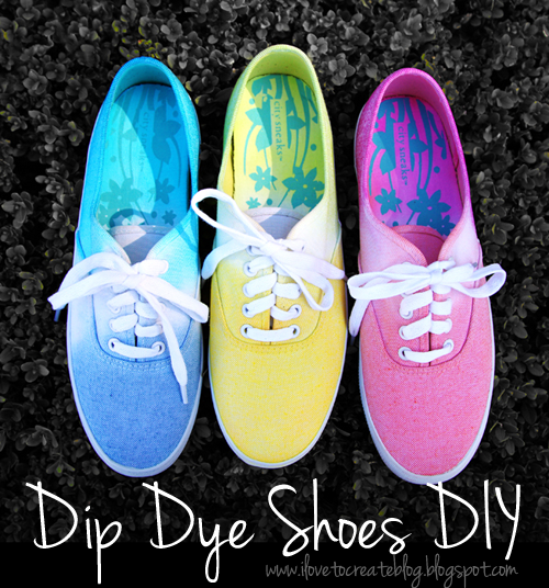 DIY Tie Dye Projects and Crafts - Ombre Tie Dye Sneakers - Cool Tie Dye Ideas for Shirts, Socks, Paint, Sheets, Sharpie, Food and Recipes, Bags, Tshirt and Shoes - Fun Projects and Gifts for Adults, Teens and Teenagers