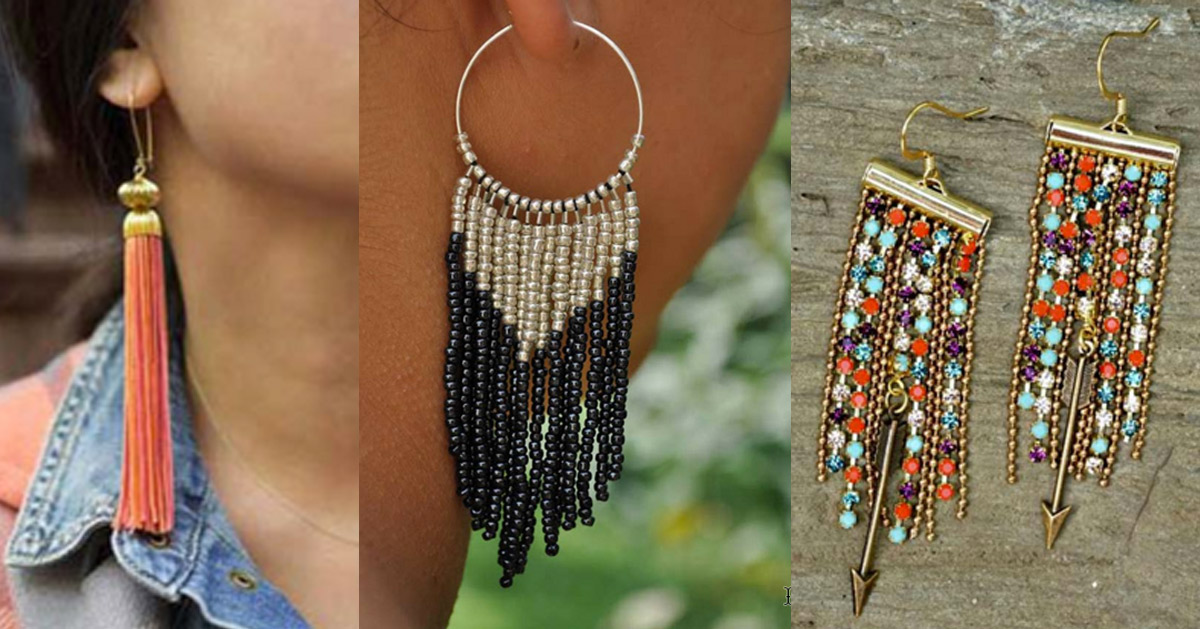 customize earrings so can or these beautiful you too colors with perfect a earring would summer tassel half cute through whatever best vacation mess click diy the moon for your work tassels to be tutorial sundress