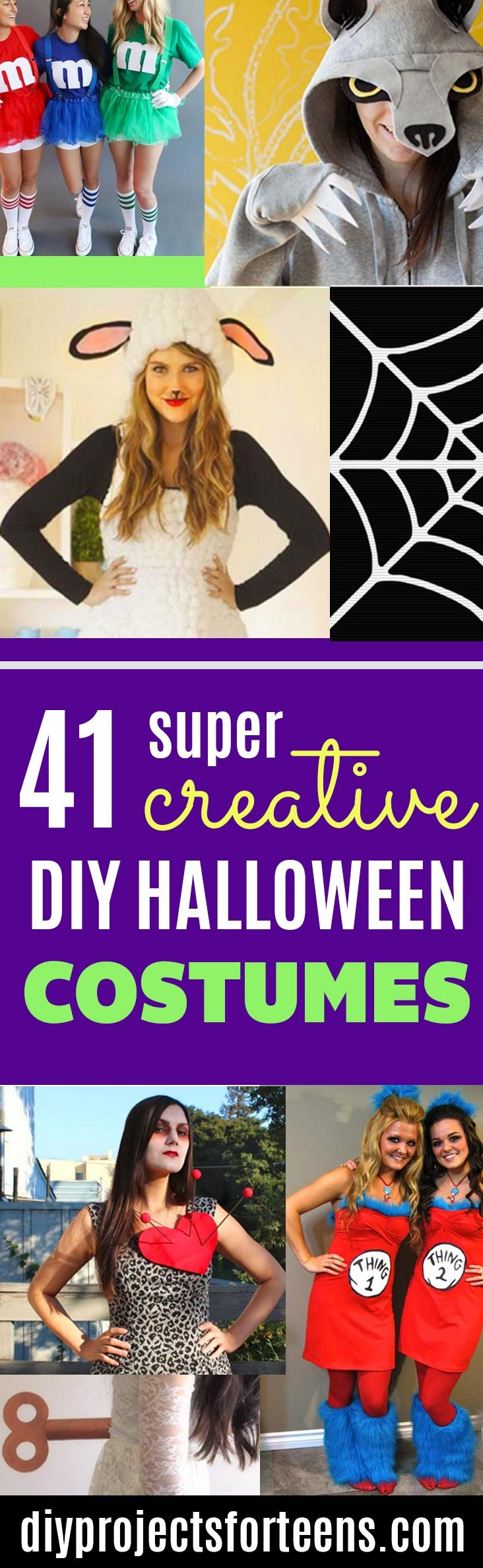 Best Last Minute DIY Halloween Costume Ideas - Do It Yourself Costumes for Teens, Teenagers, Tweens - Fun, Clever, Cheap Costumes that Are Easy To Make. Step by Step Tutorials and Instructions