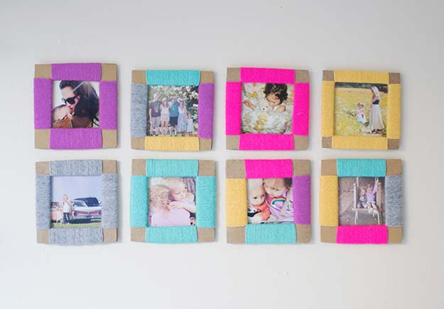 Best DIY Picture Frames and Photo Frame Ideas - Cardboard Photo Frame - How To Make Cool Handmade Projects from Wood, Canvas, Instagram Photos. Creative Birthday Gifts, Fun Crafts for Friends and Wall Art Tutorials #diyideas #diygifts #teencrafts