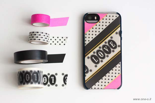 c58ac94257 DIY iPhone Case Makeovers - Washi
