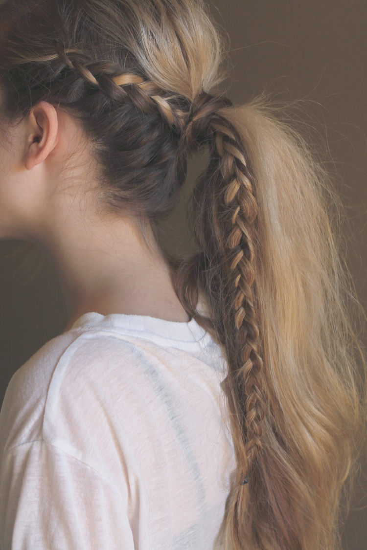 Cool and Easy DIY Hairstyles - Messy Braided Ponytail - Quick and Easy Ideas for Back to School Styles for Medium, Short and Long Hair - Fun Tips and Best Step by Step Tutorials for Teens, Prom, Weddings, Special Occasions and Work. Up dos, Braids, Top Knots and Buns, Super Summer Looks #hairstyles #hair #teens #easyhairstyles #diy #beauty