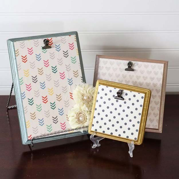 Best DIY Picture Frames and Photo Frame Ideas - Wood Plaque Picture Frames - How To Make Cool Handmade Projects from Wood, Canvas, Instagram Photos. Creative Birthday Gifts, Fun Crafts for Friends and Wall Art Tutorials http://diyprojectsforteens.com/diy-picture-frames