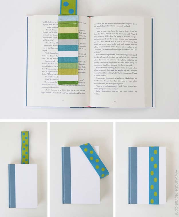 DIY Gifts for Teens - Elastic Bookmark - Cool Ideas for Girls and Boys, Friends and Gift Ideas for Teenagers. Creative Room Decor, Fun Wall Art and Awesome Crafts You Can Make for Presents http://diyprojectsforteens.com/diy-gifts-for-teens