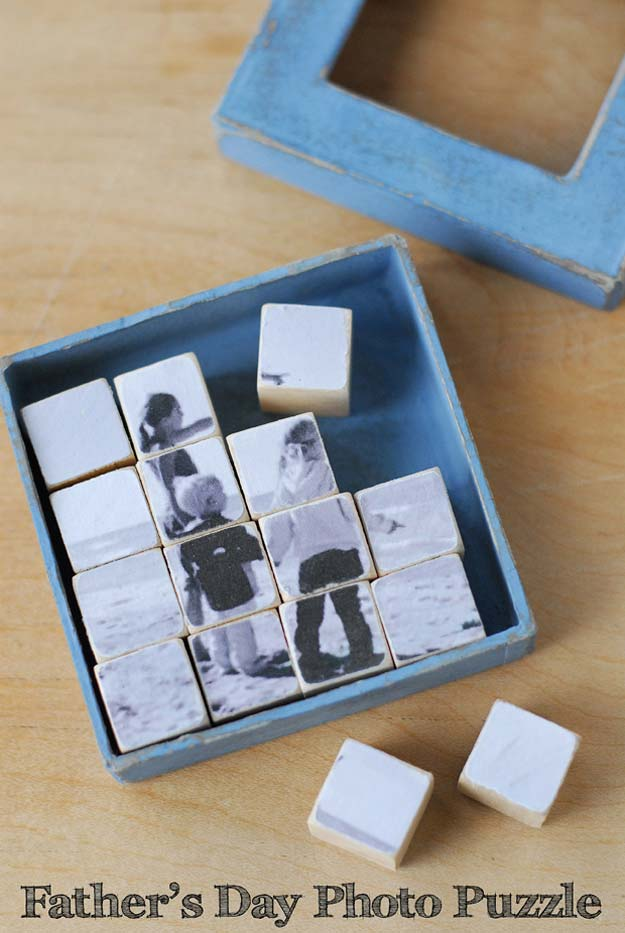 Cool DIY Photo Projects and Craft Ideas for Photos - Photo Puzzle - Easy Ideas for Wall Art, Collage and DIY Gifts for Friends. Wood, Cardboard, Canvas, Instagram Art and Frames. Creative Birthday Ideas and Home Decor for Adults, Teens and Tweens