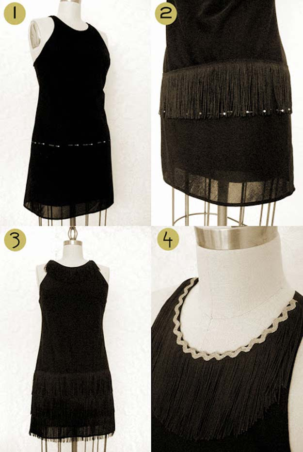 Best Last Minute DIY Halloween Costume Ideas - Flapper Dress Costume - Do It Yourself Costumes for Teens, Teenagers, Tweens, Teenage Boys and Girls, Friends. Fun, Clever, Cheap and Creative Costumes that Are Easy To Make. Step by Step Tutorials and Instructions http://diyprojectsforteens.com/last-minute-diy-halloween-costumes