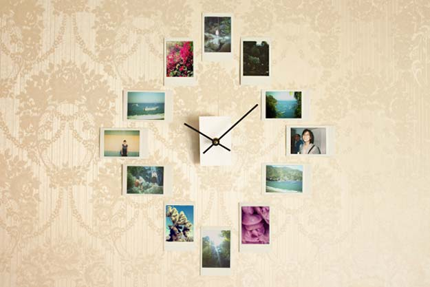 Cool DIY Photo Projects and Craft Ideas for Photos - Wall Clock from Photos - Easy Ideas for Wall Art, Collage and DIY Gifts for Friends. Wood, Cardboard, Canvas, Instagram Art and Frames. Creative Birthday Ideas and Home Decor for Adults, Teens and Tweens