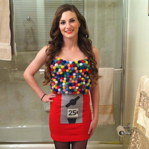 Best Last Minute DIY Halloween Costume Ideas -Gumball Machine Costume - Do It Yourself Costumes for Teens, Teenagers, Tweens, Teenage Boys and Girls, Friends. Fun, Clever, Cheap and Creative Costumes that Are Easy To Make. Step by Step Tutorials and Instructions http://diyprojectsforteens.com/last-minute-diy-halloween-costumes