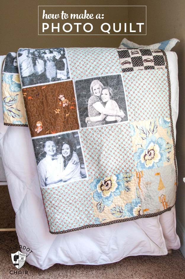 Cool DIY Photo Projects and Craft Ideas for Photos - Photo Quilt - Easy Ideas for Wall Art, Collage and DIY Gifts for Friends. Wood, Cardboard, Canvas, Instagram Art and Frames. Creative Birthday Ideas and Home Decor for Adults, Teens and Tweens