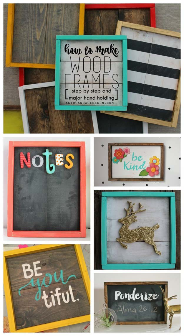 Best DIY Picture Frames and Photo Frame Ideas - Wood Frames - How To Make Cool Handmade Projects from Wood, Canvas, Instagram Photos. Creative Birthday Gifts, Fun Crafts for Friends and Wall Art Tutorials http://diyprojectsforteens.com/diy-picture-frames