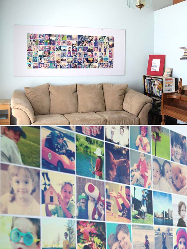 Best DIY Picture Frames and Photo Frame Ideas - Photo Wall - How To Make Cool Handmade Projects from Wood, Canvas, Instagram Photos. Creative Birthday Gifts, Fun Crafts for Friends and Wall Art Tutorials http://diyprojectsforteens.com/diy-picture-frames