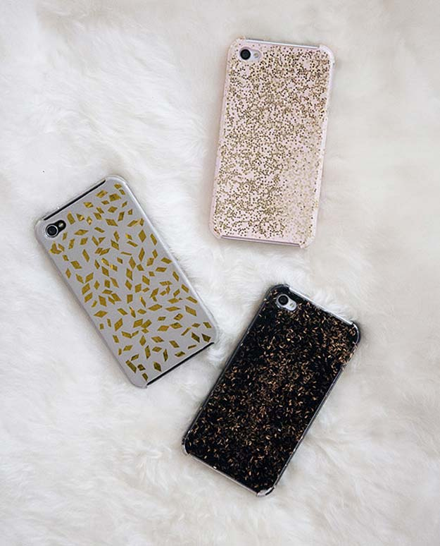 DIY iPhone Case Makeovers - Repurpose Holiday Glitz - Easy DIY Projects and Handmade Crafts Tutorial Ideas You Can Make To Decorate Your Phone With Glitter, Nail Polish, Sharpie, Paint, Bling, Printables and Sewing Patterns - Fun DIY Ideas for Women, Teens, Tweens and Kids