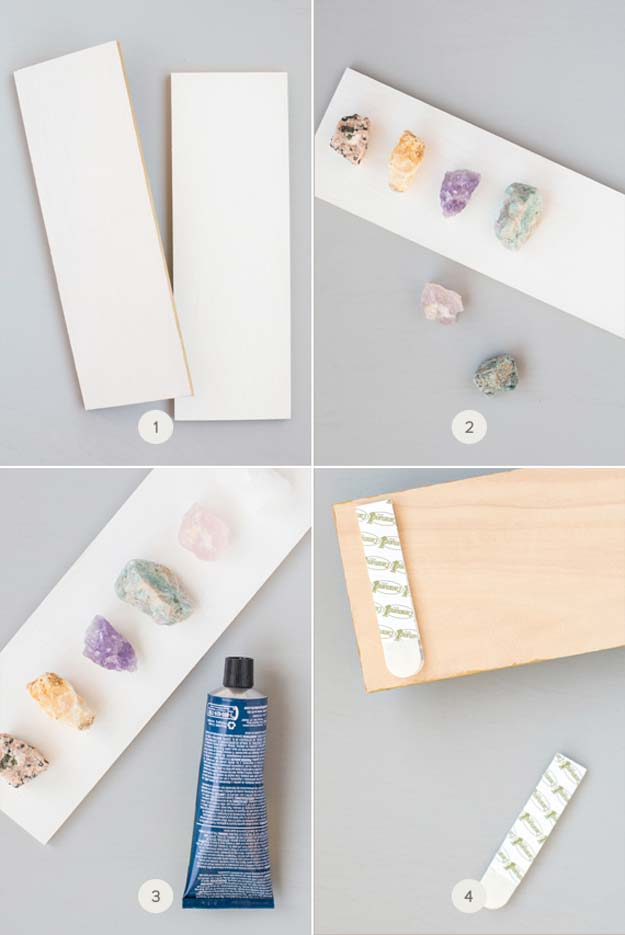 DIY Gifts for Teens - Crystal Necklace Display - Cool Ideas for Girls and Boys, Friends and Gift Ideas for Teenagers. Creative Room Decor, Fun Wall Art and Awesome Crafts You Can Make for Presents #teengifts #teencrafts