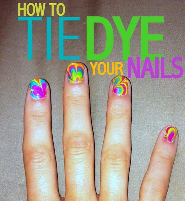 DIY Gifts for Teens - Tie-Dye Nails - Cool Ideas for Girls and Boys, Friends and Gift Ideas for Teenagers. Creative Room Decor, Fun Wall Art and Awesome Crafts You Can Make for Presents