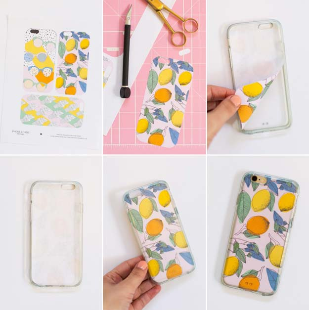 DIY iPhone Case Makeovers - Printable Smart Phone Cases - Easy DIY Projects and Handmade Crafts Tutorial Ideas You Can Make To Decorate Your Phone With Glitter, Nail Polish, Sharpie, Paint, Bling, Printables and Sewing Patterns - Fun DIY Ideas for Women, Teens, Tweens and Kids