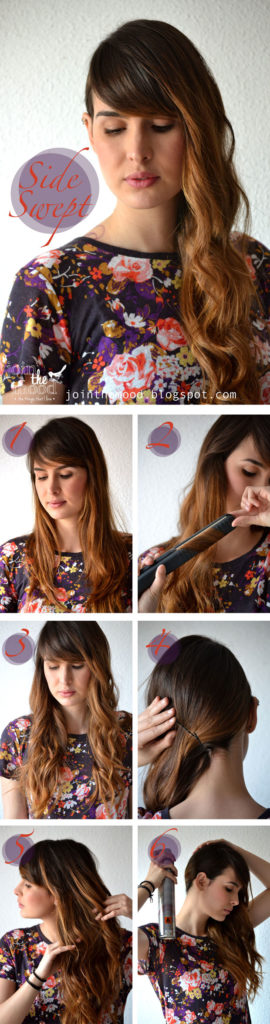 Cool and Easy DIY Hairstyles - Side Swept Hairstyle - Quick and Easy Ideas for Back to School Styles for Medium, Short and Long Hair - Fun Tips and Best Step by Step Tutorials for Teens, Prom, Weddings, Special Occasions and Work. Up dos, Braids, Top Knots and Buns, Super Summer Looks #hairstyles #hair #teens #easyhairstyles #diy #beauty