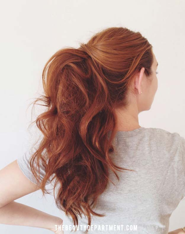 Cool and Easy DIY Hairstyles - Ponytail Hairstyle - Quick and Easy Ideas for Back to School Styles for Medium, Short and Long Hair - Fun Tips and Best Step by Step Tutorials for Teens, Prom, Weddings, Special Occasions and Work. Up dos, Braids, Top Knots and Buns, Super Summer Looks #hairstyles #hair #teens #easyhairstyles #diy #beauty