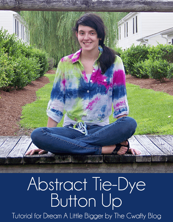 DIY Tie Dye Projects and Crafts - Abstract Tie Dye Button Up - Cool Tie Dye Ideas for Shirts, Socks, Paint, Sheets, Sharpie, Food and Recipes, Bags, Tshirt and Shoes - Fun Projects and Gifts for Adults, Teens and Teenagers