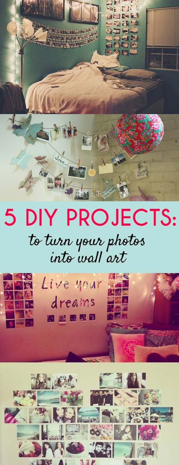 Cool DIY Photo Projects and Craft Ideas for Photos - Wall Art - Easy Ideas for Wall Art, Collage and DIY Gifts for Friends. Wood, Cardboard, Canvas, Instagram Art and Frames. Creative Birthday Ideas and Home Decor for Adults, Teens and Tweens