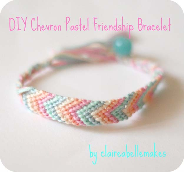 Best DIY Chevron Projects - DIY Chevron Pastel Friendship Bracele - DIY Wall Art, Home and Room Decor, Canvas Crafts With Chevrons, Furniture and Chairs, Decorations With Paint Ideas Using Chevron Patterns for Bedroom, Bathroom and Teens Rooms. Learn How To Tape Chevron Art With Easy To Follow Step by Step Tutorials http://diyprojectsforteens.com/diy-projects-chevron