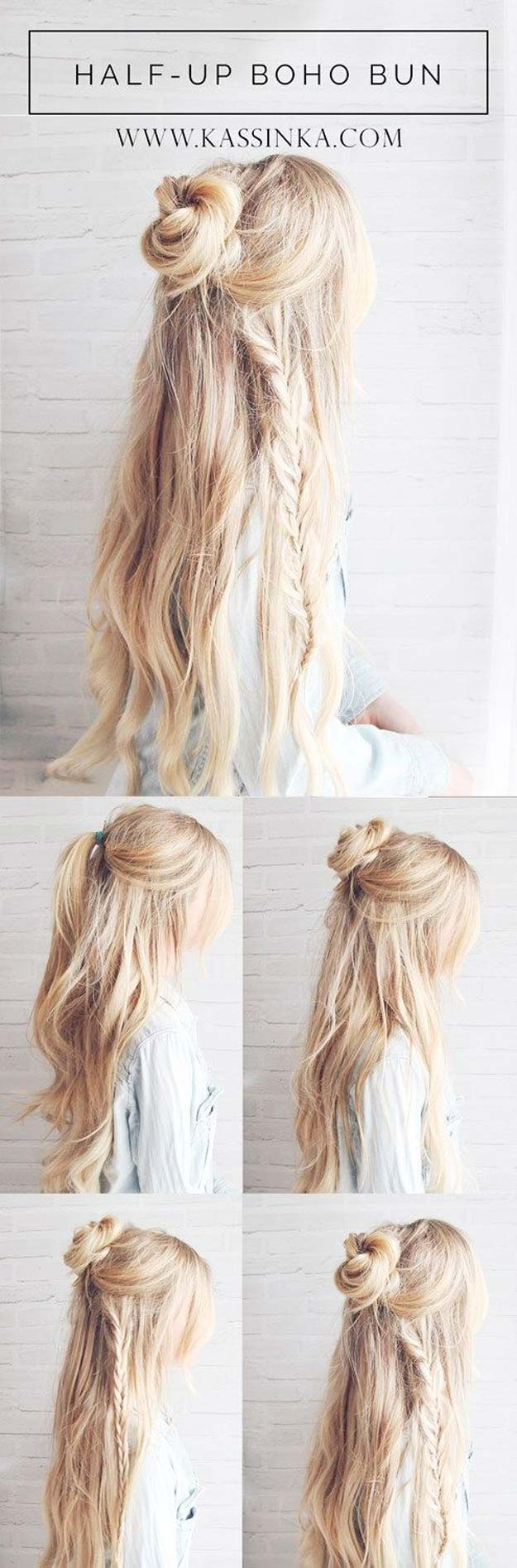Captivating Best Hairstyles For Long Hair   Boho Braided Bun Hair   Step By Step  Tutorials For