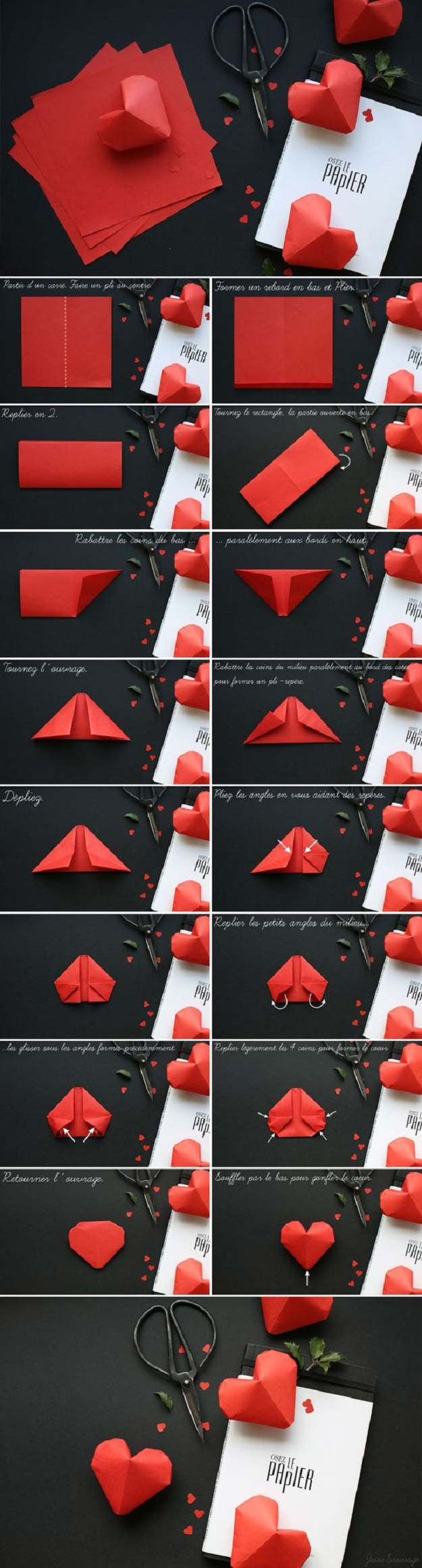 Step By Step Diy Origami Heart Box - All About Craft | 2320x625