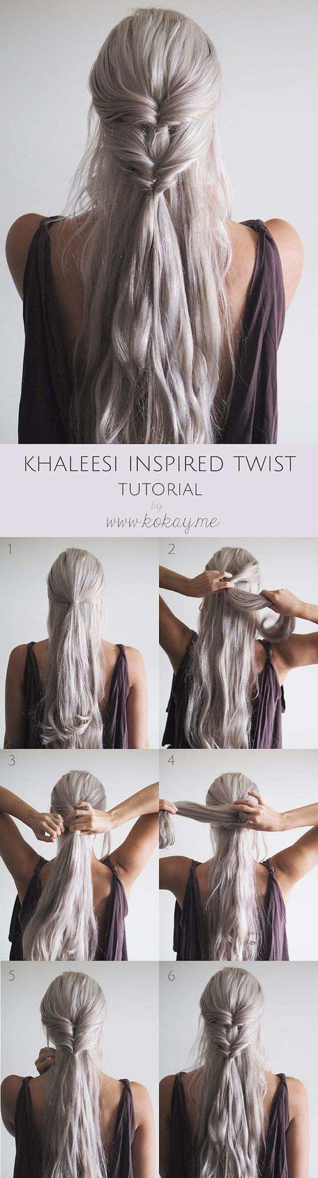 Best Hairstyles For Long Hair   Khaleesi Inspired Twist   Step By Step  Tutorials For Easy
