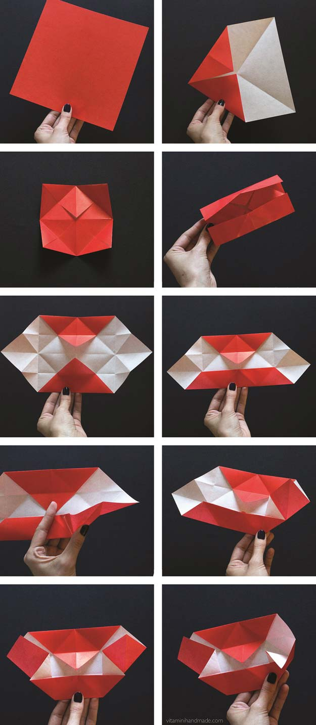 40 best diy origami projects to keep your entertained today diy best origami tutorials origami vampire fangs easy diy origami tutorial projects for with instructions jeuxipadfo Choice Image