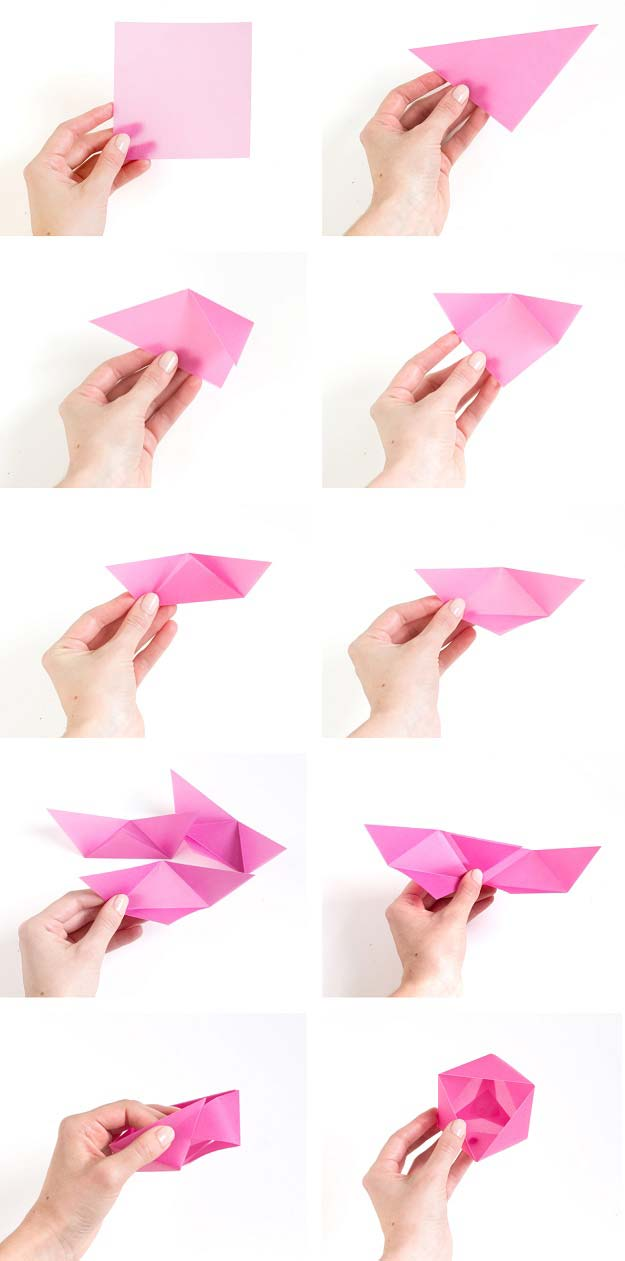 Best Origami Tutorials - Origami Candy Boxes - Easy DIY Origami Tutorial Projects for With Instructions for Flowers, Dog, Gift Box, Star, Owl, Buttlerfly, Heart and Bookmark, Animals - Fun Paper Crafts for Teens, Kids and Adults http://diyprojectsforteens.com/best-origami-tutorials