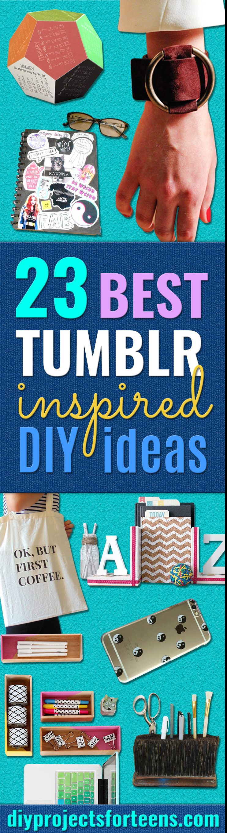 Best DIY Ideas from Tumblr - Crafts and DIY Projects Inspired by Tumblr are Perfect Room Decor for Teens and Adults - Fun Crafts and Easy DIY Gifts, Clothes and Bedroom Project Tutorials for Teenagers and Tweens
