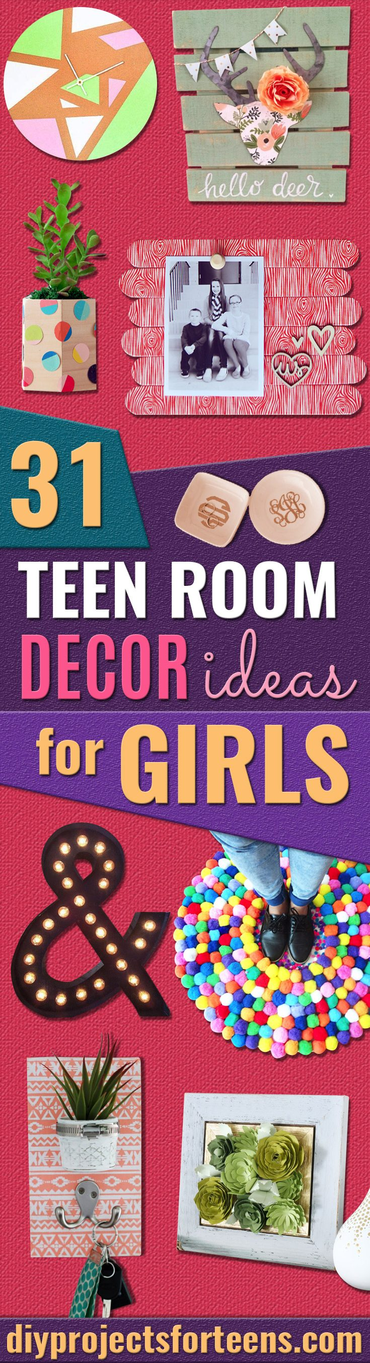 DIY Teen Room Decor Ideas for Girls - Creative Ideas for Teens, Tweens and Teenagers Rooms -Cool Bedroom Decor, Wall Art & Signs, Crafts, Bedding, Fun Do It Yourself Projects and Room Ideas for Small Spaces #teencrafts #roomdecor #teens #diy