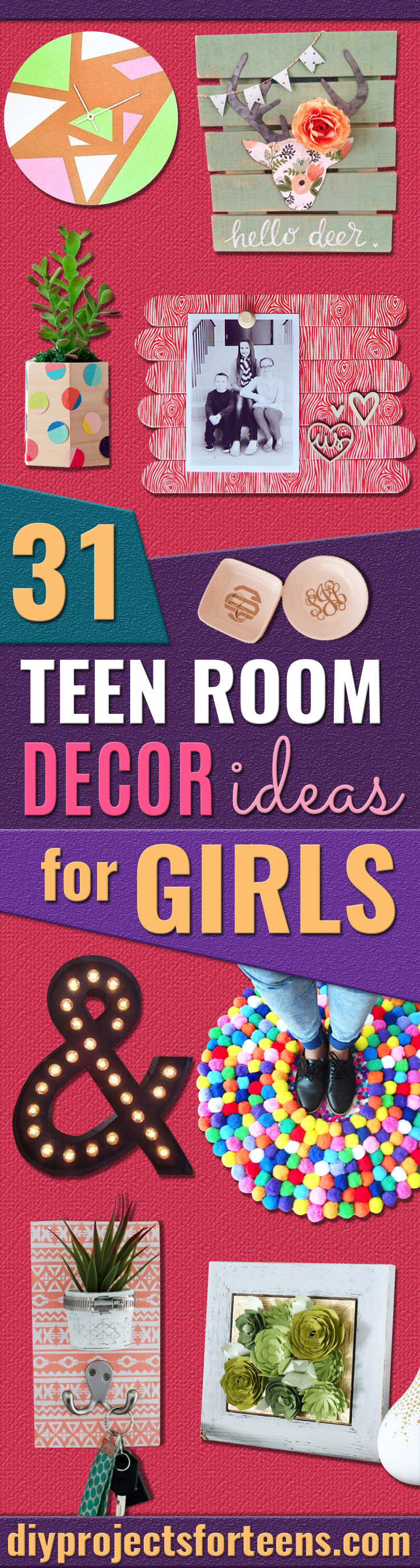 Bedroom decor ideas for girls - 31 Diy Teen Room Decor Ideas For Girls Creative Ideas For Teens Tweens And
