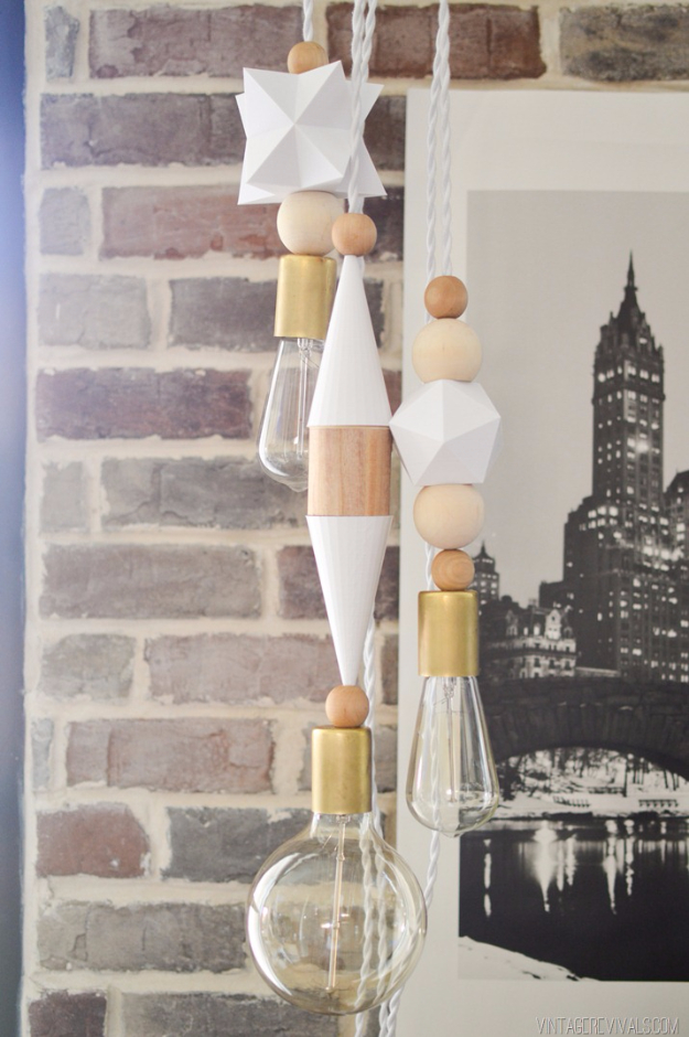 DIY Lighting Ideas for Teen and Kids Rooms - 3D Printed Bauble Lights - Fun DIY Lights like Lamps, Pendants, Chandeliers and Hanging Fixtures for the Bedroom plus cool ideas With String Lights. Perfect for Girls and Boys Rooms, Teenagers and Dorm Room Decor