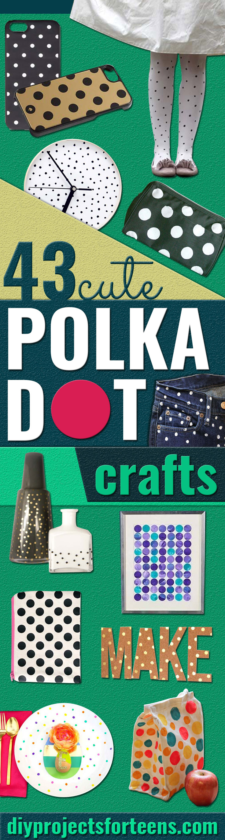 DIY Polka Dot Crafts and Projects - Cool Clothes, Room and Home Decor, Wall Art, Mason Jars and Party Ideas, Canvas, Fabric and Paint Project Tutorials - Fun Craft Ideas for Teens, Kids and Adults Make Awesome DIY Gifts