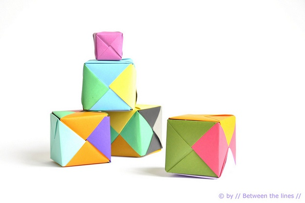 Best Origami Tutorials - Origami Paper Cube- Easy DIY Origami Tutorial Projects for With Instructions for Flowers, Dog, Gift Box, Star, Owl, Buttlerfly, Heart and Bookmark, Animals - Fun Paper Crafts for Teens, Kids and Adults #origami #crafts