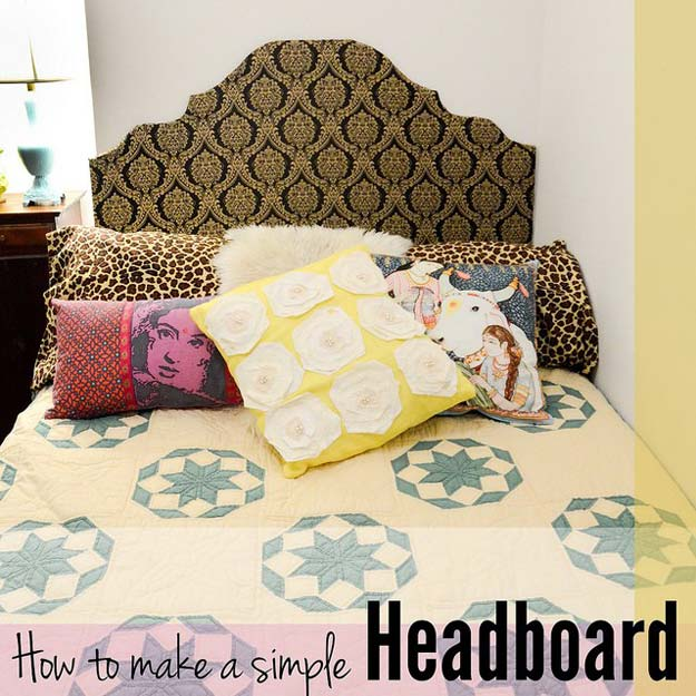 Nice DIY Dorm Room Decor Ideas   Simple Headboard   Cheap DIY Dorm Decor  Projects For College Part 32