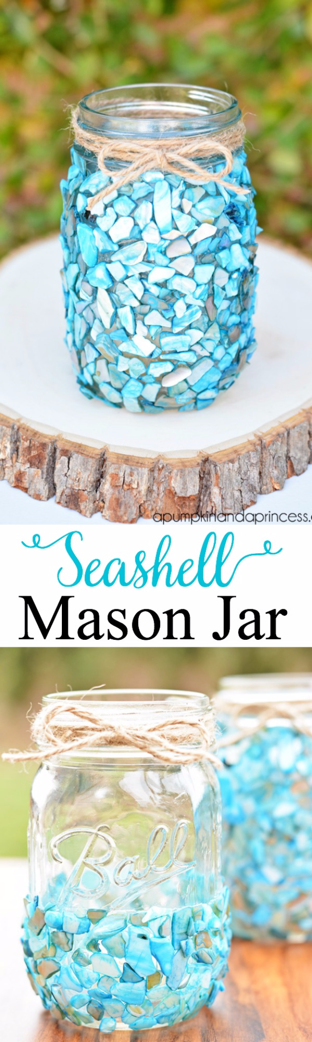 DIY Teen Room Decor Ideas for Girls | Beach Inspired Mason Jar Display | Cool Bedroom Decor, Wall Art & Signs, Crafts, Bedding, Fun Do It Yourself Projects and Room Ideas for Small Spaces #teencrafts #roomdecor #teens #diy