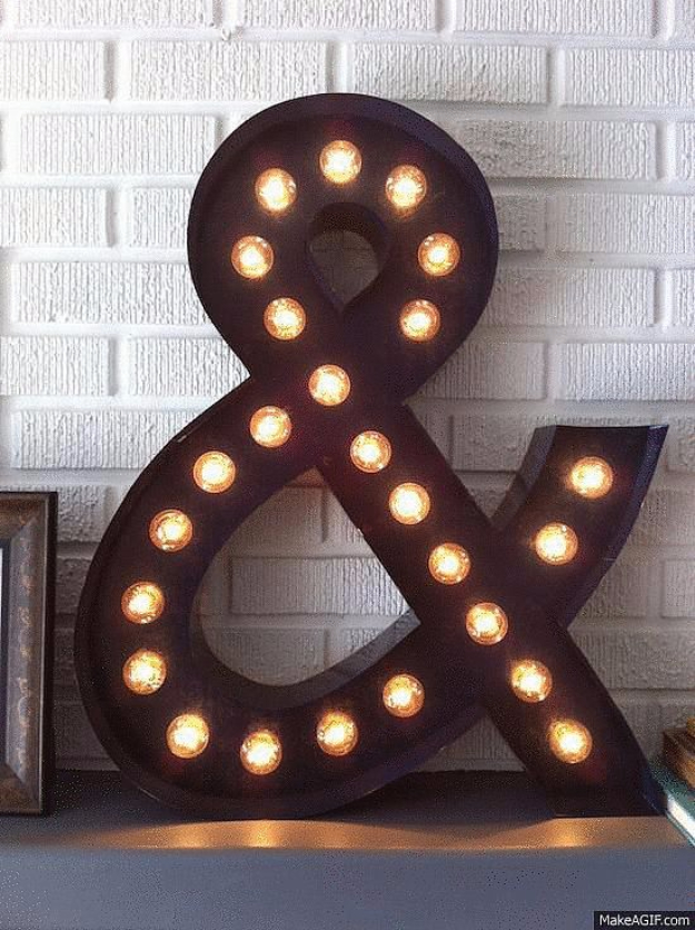 DIY Teen Room Decor Ideas for Girls | DIY Ampersand Marquee Light | Cool Bedroom Decor, Wall Art & Signs, Crafts, Bedding, Fun Do It Yourself Projects and Room Ideas for Small Spaces