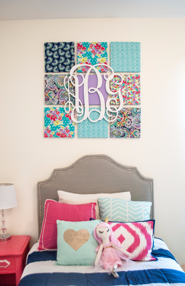 Elegant DIY Teen Room Decor Ideas For Girls | DIY Fabric Wall Art | Cool Bedroom  Decor