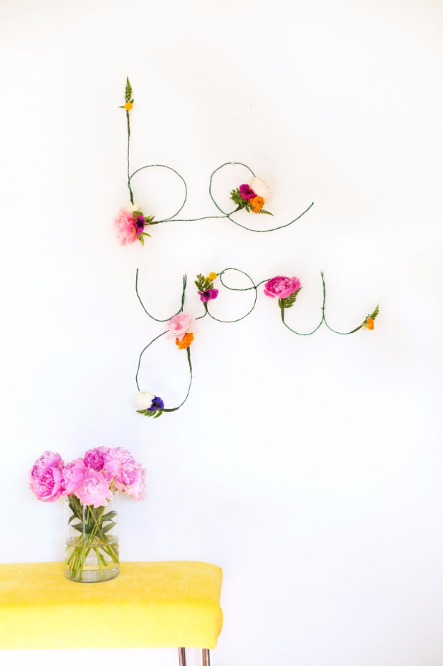DIY Teen Room Decor Ideas For Girls | DIY Floral And Wire Words | Cool  Bedroom