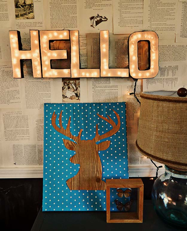 DIY Dorm Room Decor Ideas - Lighted Letters Sign - Cheap DIY Dorm Decor Projects for College Rooms - Cool Crafts, Wall Art, Easy Organization for Girls - Fun DYI Tutorials for Teens and College Students http://diyprojectsforteens.com/diy-dorm-room-decor