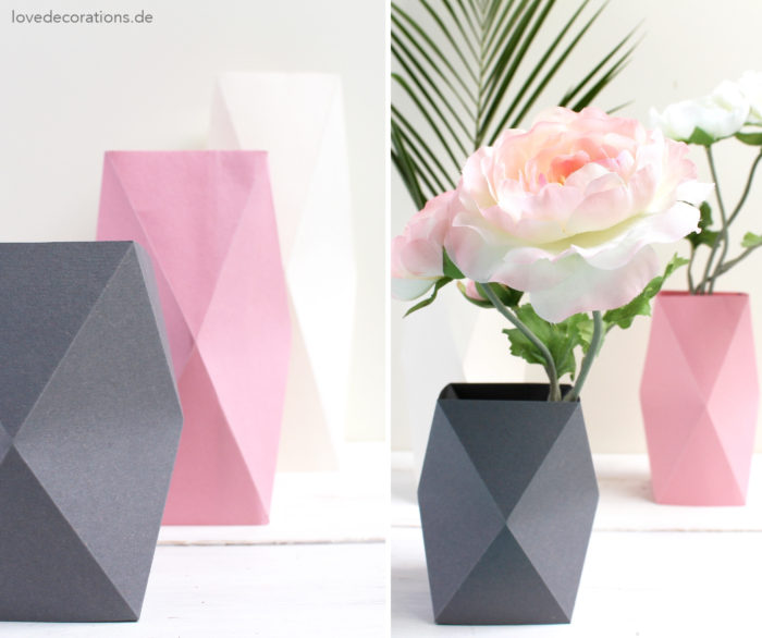 3d Origami Heart Vase Vase And Cellar Image Avorcor