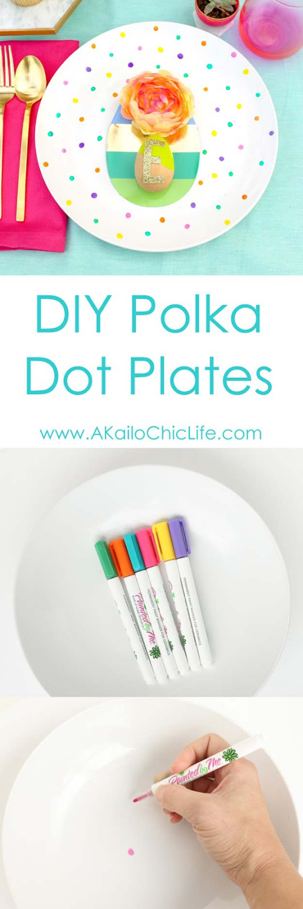 DIY Polka Dot Crafts and Projects - DIY Polka Dot Plates - Cool Clothes, Room and Home Decor, Wall Art, Mason Jars and Party Ideas, Canvas, Fabric and Paint Project Tutorials - Fun Craft Ideas for Teens, Kids and Adults Make Awesome DIY Gifts