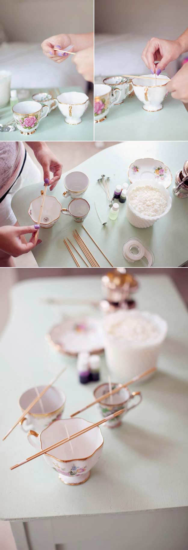 Fun Dollar Store Crafts for Teens - DIY Vintage Teacup Candles - Cheap and Easy DIY Ideas for Teenagers to Make for Dollar Stores - Inexpensive Gifts and Room Decor for Tweens, Boys and Girls - Awesome Step by Step Tutorials with Instructions for Cool DIY Projects http://diyprojectsforteens.com/dollar-store-crafts-teens