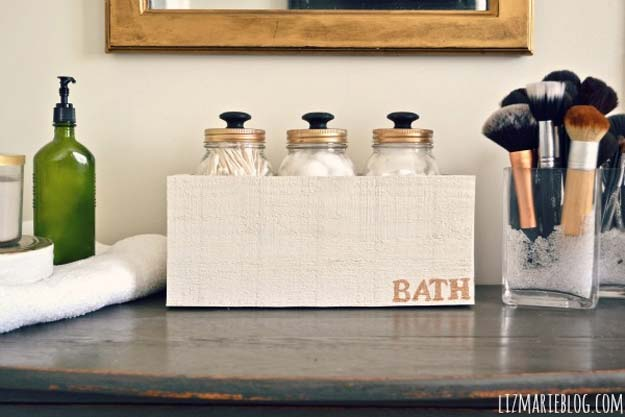 DIY Bathroom Decor Ideas for Teens - Mason Jar Storage with Knobs - Best Creative, Cool Bath Decorations and Accessories for Teenagers - Easy, Cheap, Cute and Quick Craft Projects That Are Fun To Make. Easy to Follow Step by Step Tutorials
