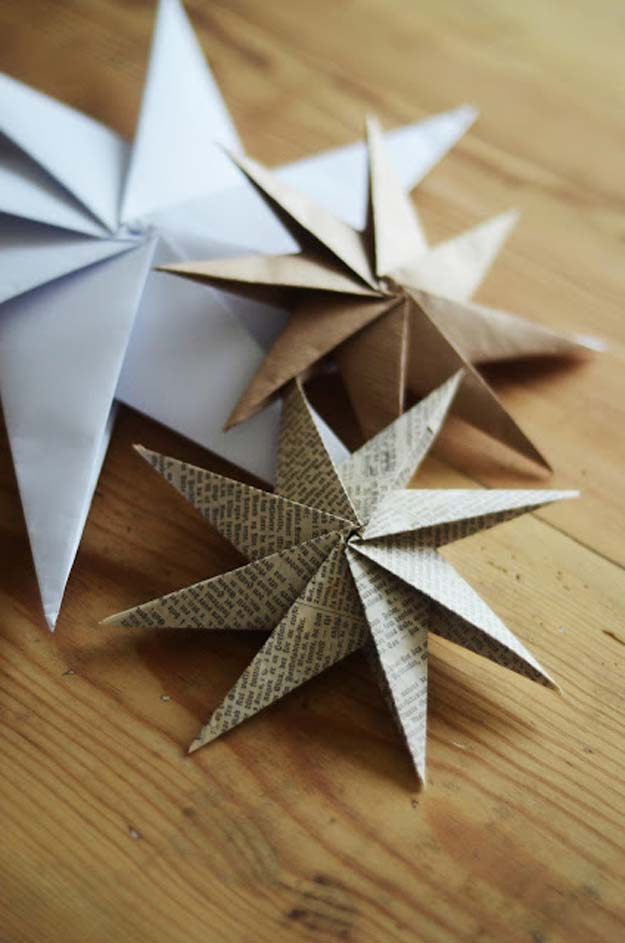 Best Origami Tutorials - Paper Star - Easy DIY Origami Tutorial Projects for With Instructions for Flowers, Dog, Gift Box, Star, Owl, Buttlerfly, Heart and Bookmark, Animals - Fun Paper Crafts for Teens, Kids and Adults #origami #crafts