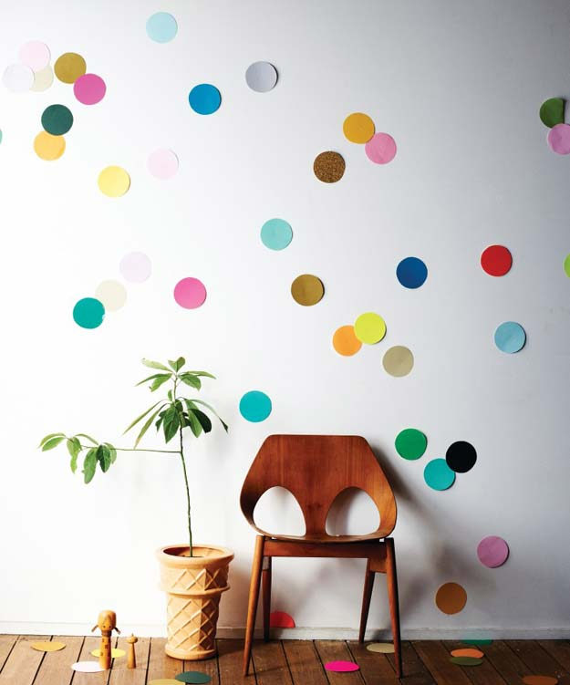 DIY Dorm Room Decor Ideas - Beci Orpin's Giant Confetti Wall - Cheap DIY Dorm Decor Projects for College Rooms - Cool Crafts, Wall Art, Easy Organization for Girls - Fun DYI Tutorials for Teens and College Students http://diyprojectsforteens.com/diy-dorm-room-decor