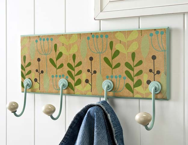 Fun Dollar Store Crafts for Teens - DIY Floral Coat Rack - Cheap and Easy DIY Ideas for Teenagers to Make for Dollar Stores - Inexpensive Gifts and Room Decor for Tweens, Boys and Girls - Awesome Step by Step Tutorials with Instructions for Cool DIY Projects